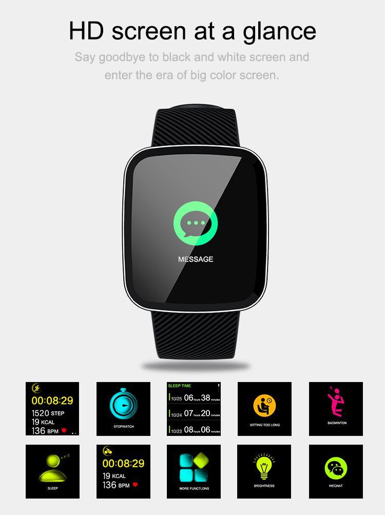 Z30 Relógio Inteligente Das Mulheres Dos Homens de 1.3 polegadas Tela Grande Em Tempo Real Monitor de Freqüência Cardíaca Do Sono Esporte À Prova D 'Água Smartwatch para IOS Android