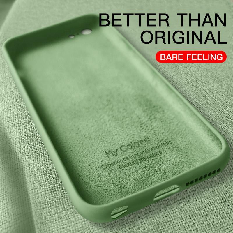 Estuche blando y delgado para iPhone 7 8 6 6s Plus 7Plus 5 5S Funda de silicona líquida original Candy Color Coque Capa para iPhone X Xs Max XR