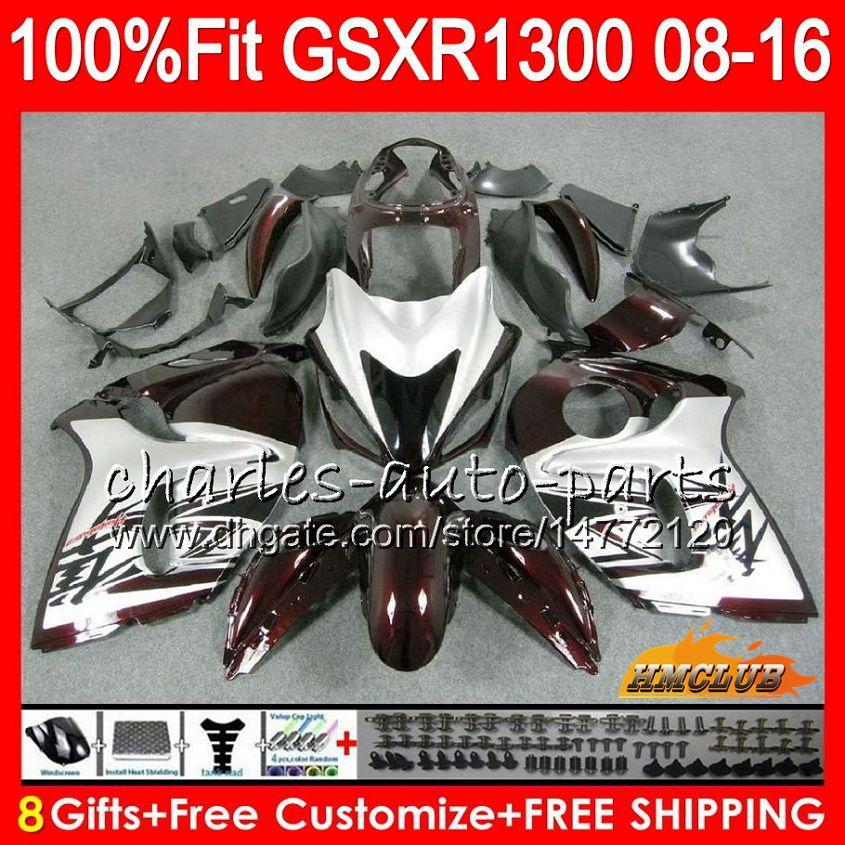 Einspritzung für SUZUKI dunkelrot heißes GSXR1300 Hayabusa 08 09 10 2008 2009 2010 25HC.4 GSXR 1300 GSXR-1300 11 12 13 2011 2012 2013 Soem-Verkleidung