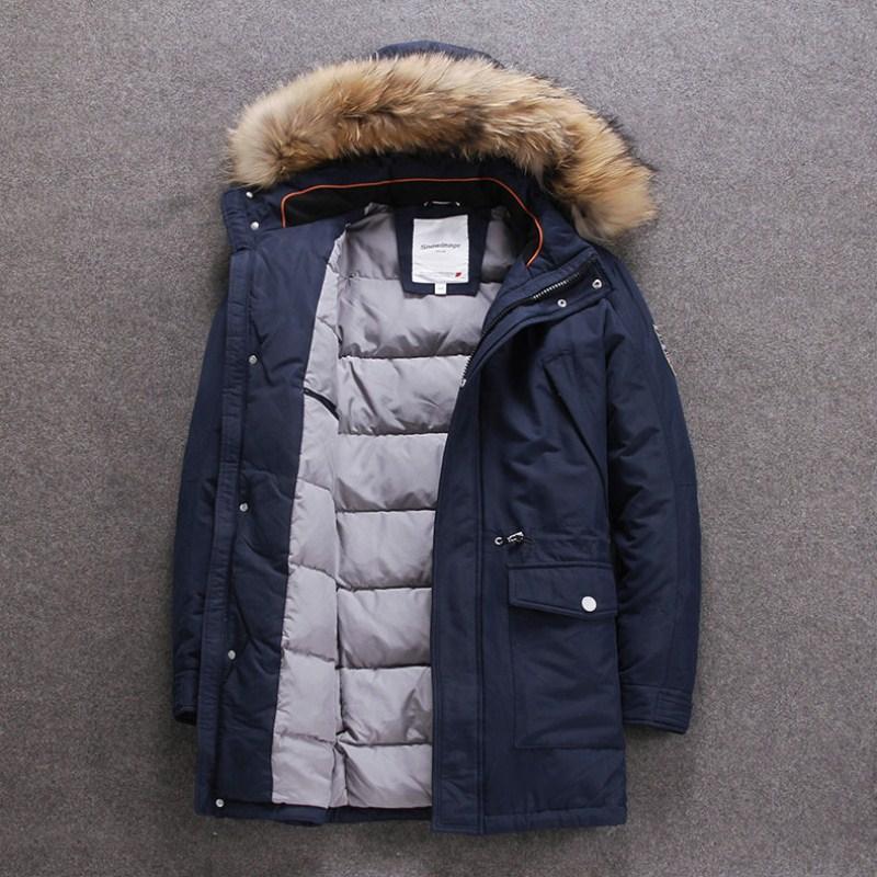 Großhandel Winter Daunenjacke Für Männer Europa Und USA Kragenente Daunenjacke Minus 40 Grad Warme Mantelgröße 48 56 S501 Von Bevarly, $315.37 Auf