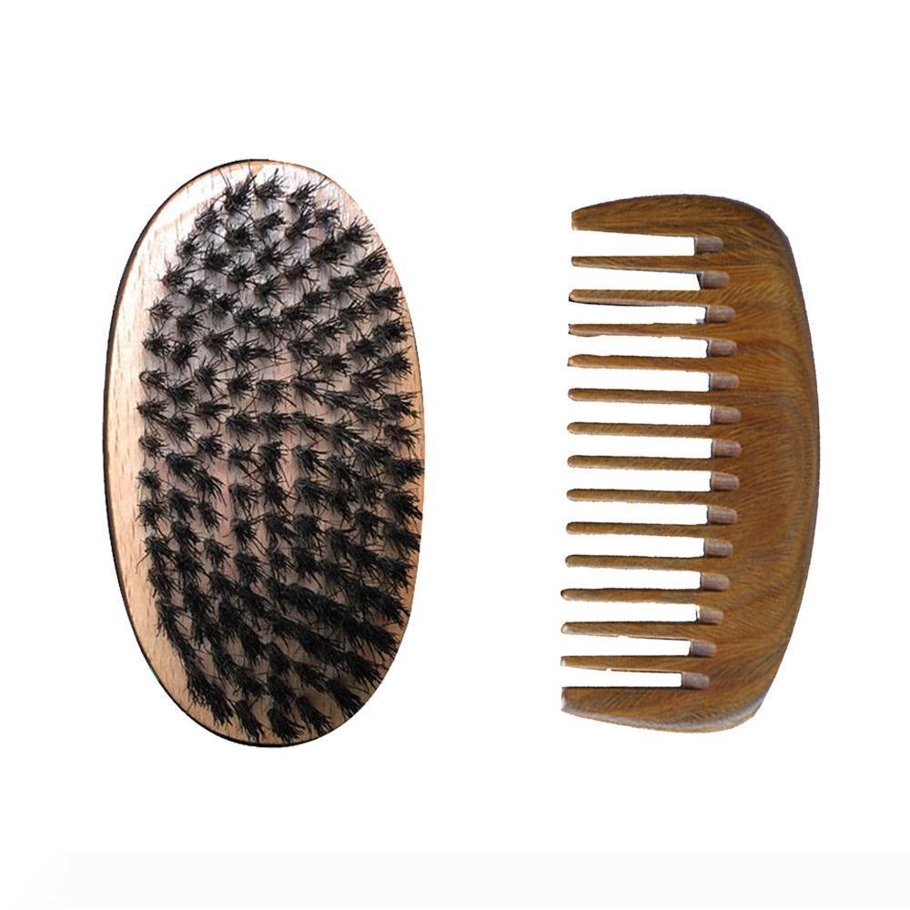 Spazzola per capelli e il corredo del pettine fornitore all'ingrosso WideTooth Pocket pettine setole di cinghiale spazzola Hair Salon Haircut Fade pettine sopra dei capelli stile della barba di natale