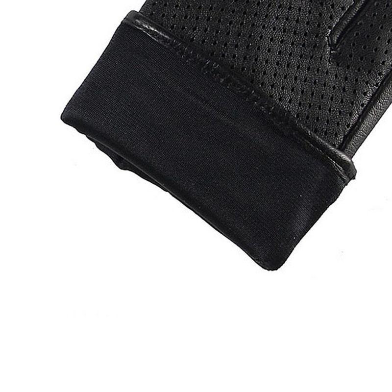 Marken-echte Leder-Handschuhe Frauen Frühling Herbst Thin Fashion Trend Lammfell-Handschuhe Finger Driving Glove L093NN-5