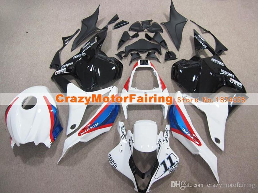 Novo estilo ABS Injection Mold motocicleta Carenagens Kits 100% apto para Honda CBR600RR F5 07 08 2007 2008 carroçaria definir vermelho azul branco personalizado