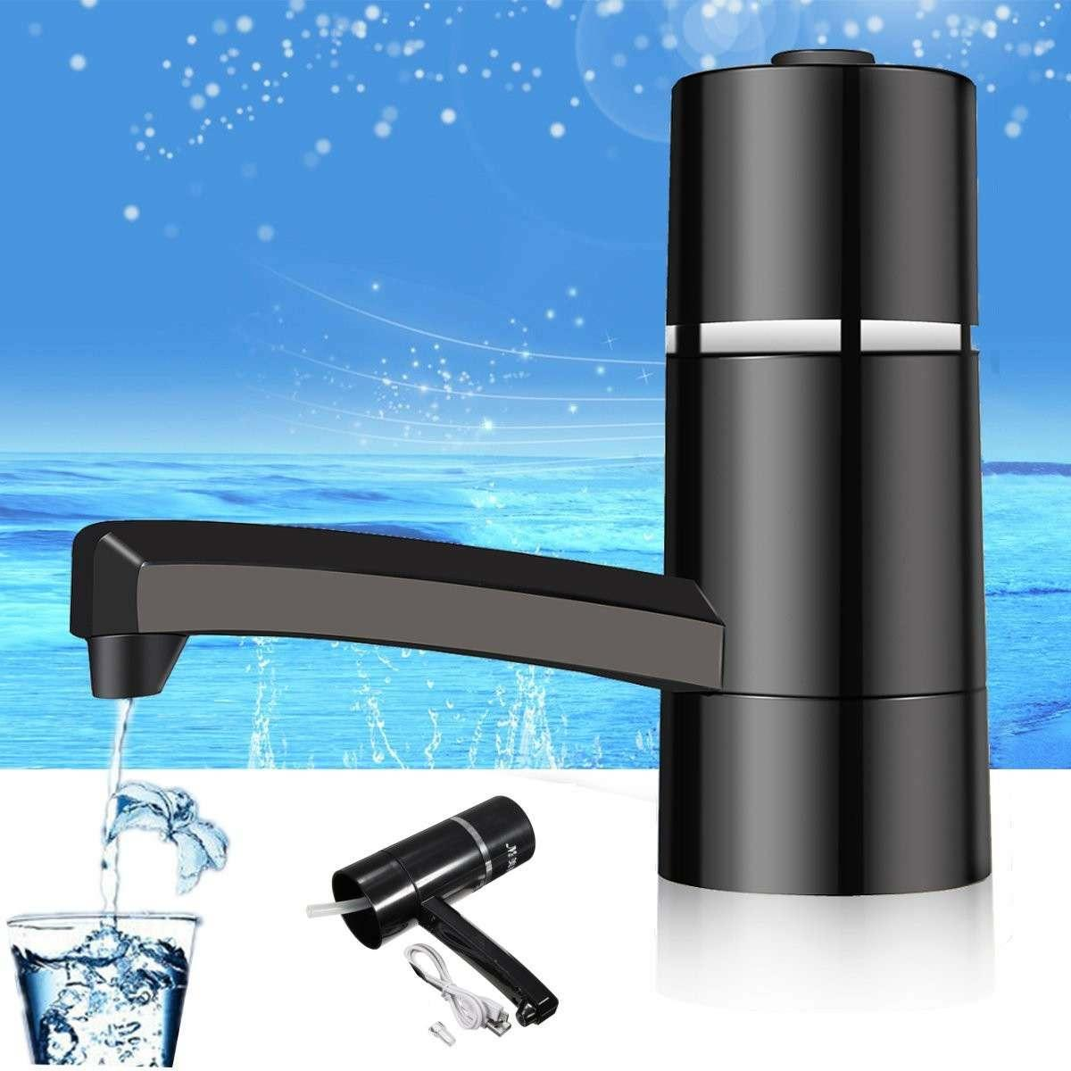 Mini Wireless Electric Water Bottle Pump Dispenser With LED Light Portable Drinking Bottles With USB Rechargeable Water Pump Y200330