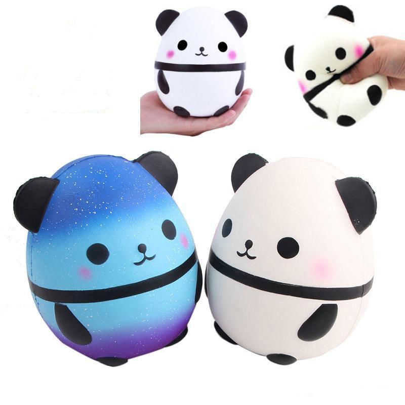 Panda Ei Squishy Jumbo Cute Panda Kawaii Creme Duft Kinder Spielzeug Puppe Geschenk Fun Collection Stress Relief Toy Hop Props Weihnachtsgeschenke