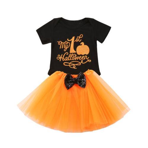 Skirt Tee shirt Outfits Clothes 2Pcs Set Girl Tutu Dress Kids Baby Toddler Top
