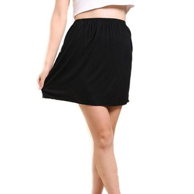 Sommer-Unterkleid Neue feste beiläufige Rock Modal Miniröcke Frauen PetticoatUnderskirt Damen Slips Röcke Vestidos