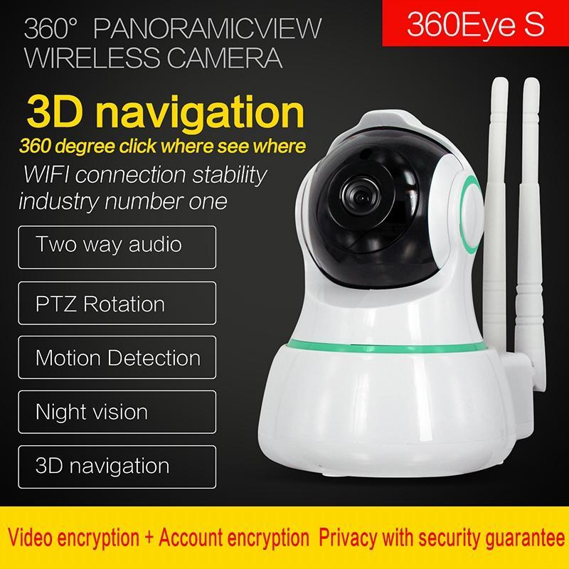 와이파이 원격 1080P 홈 보안 IP 카메라 양방향 오디오 오디오 무선 미니 카메라 나이트 비전 CCTV 와이파이 카메라 베이비 모니터 360Eyes