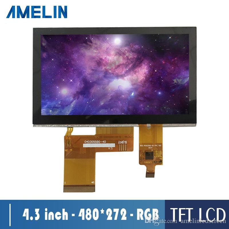 AML043056B0 4.3 بوصة شاشة 480 * 272 tft وحدة شاشة LCD مع واجهة RGB ولوحة اللمس CTP