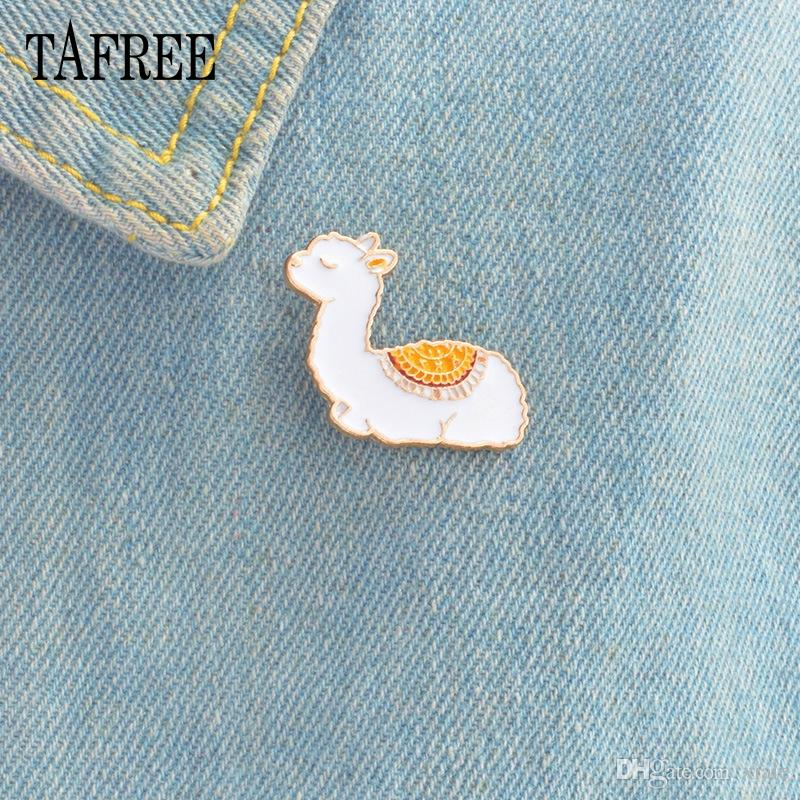 America Camel Lapel pin Cute Baby Llama Brooch Animal alpaca Badge Hard Enamel For Hat Bag Jeans Shirt Jewelry Girl Boy