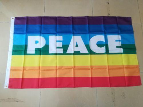 Радуга Флаг Мира 3ft * 5ft (150cm * 90cm) Флаг Баннер украшения летающий дом сад на открытом воздухе подарки