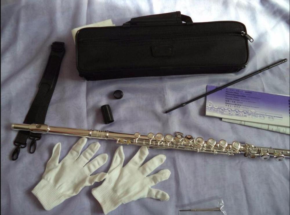 Fl -471 Cupronickel 16 Buraco Fechado Flute de alta qualidade prata banhado Flute Playing C Tune Musical Instrument flauta com caso