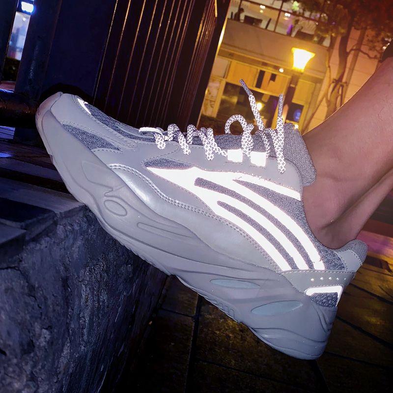 Люминесцентные Мужская обувь толстым дном мужская мода тенденция платформы кроссовки большой размер открытый старый папа обувь Zapatillas Hombre