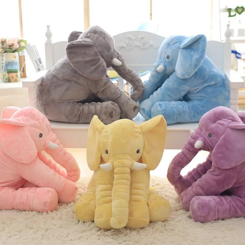 40 cm / 60 cm Höhe Große Plüsch Elefant Puppe Spielzeug Kinder Schlafen Rückenkissen Niedlichen Gefüllte Elefanten Baby Begleiten Puppe Weihnachtsgeschenk