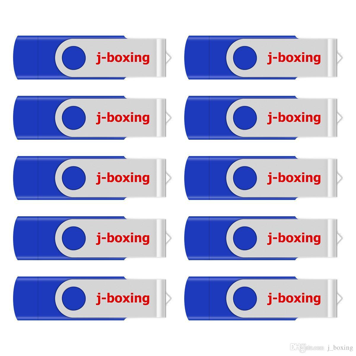j_boxing Bleu 10PCS 8 Go OTG USB 2.0 Flash Drive clés USB Swivel Memory Stick Pen stockage pour ordinateur Smartphone Android Tablet Macbook