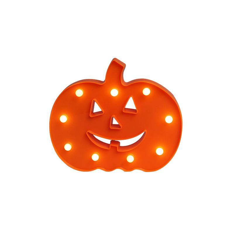 1pcs Night Light décoratif électronique suspendu LED forme de citrouille mur Night Lights pour Halloween Party Home Decor Bar