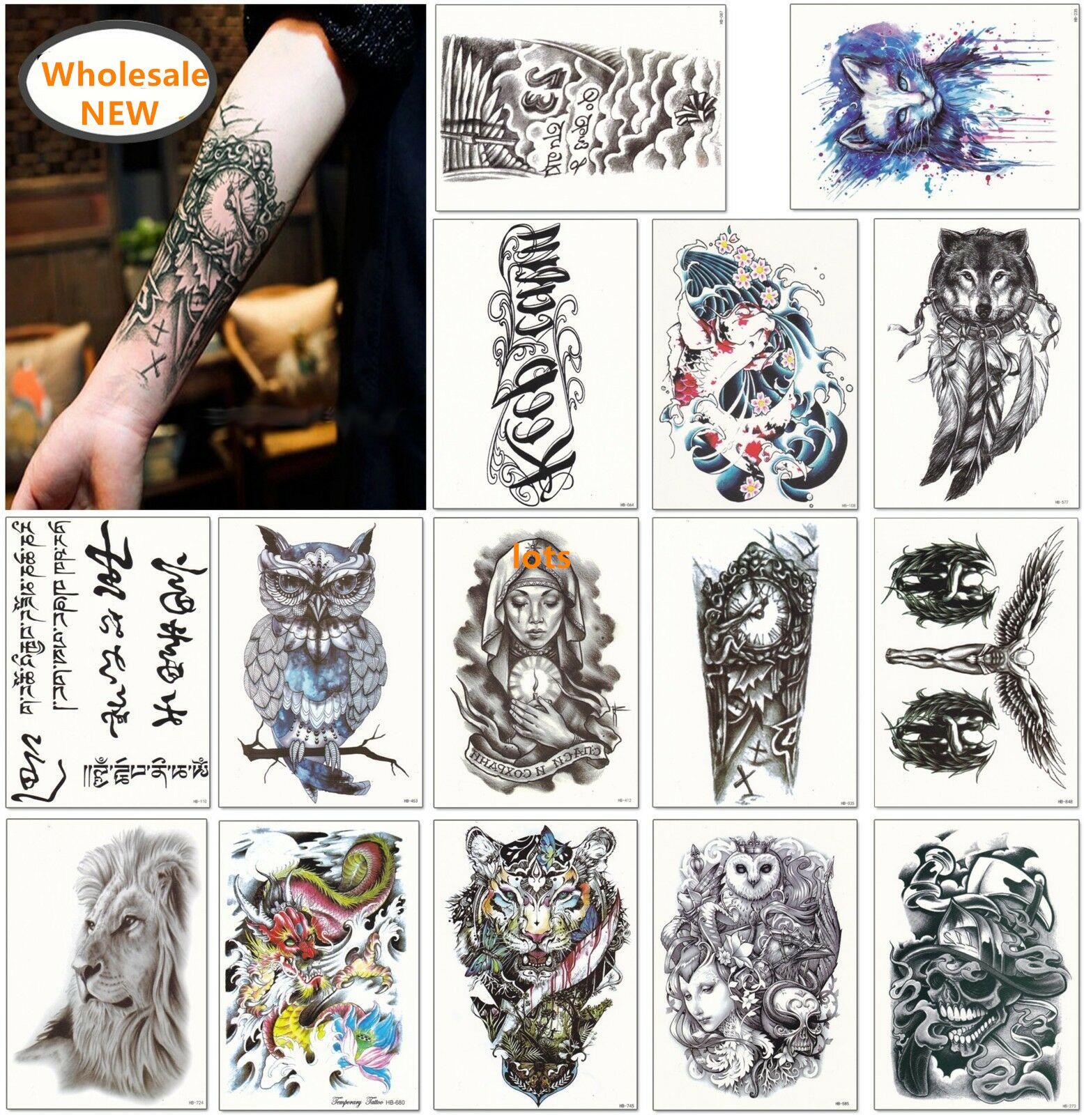 En yeni! 1600 Stilleri Yarım Kollu Dövme Etiket Kol Geçici Dövmeler Su Geçirmez Sticker Rastgele Gönderilmiş Karışık Özelleştirilmiş Dövme Kabul