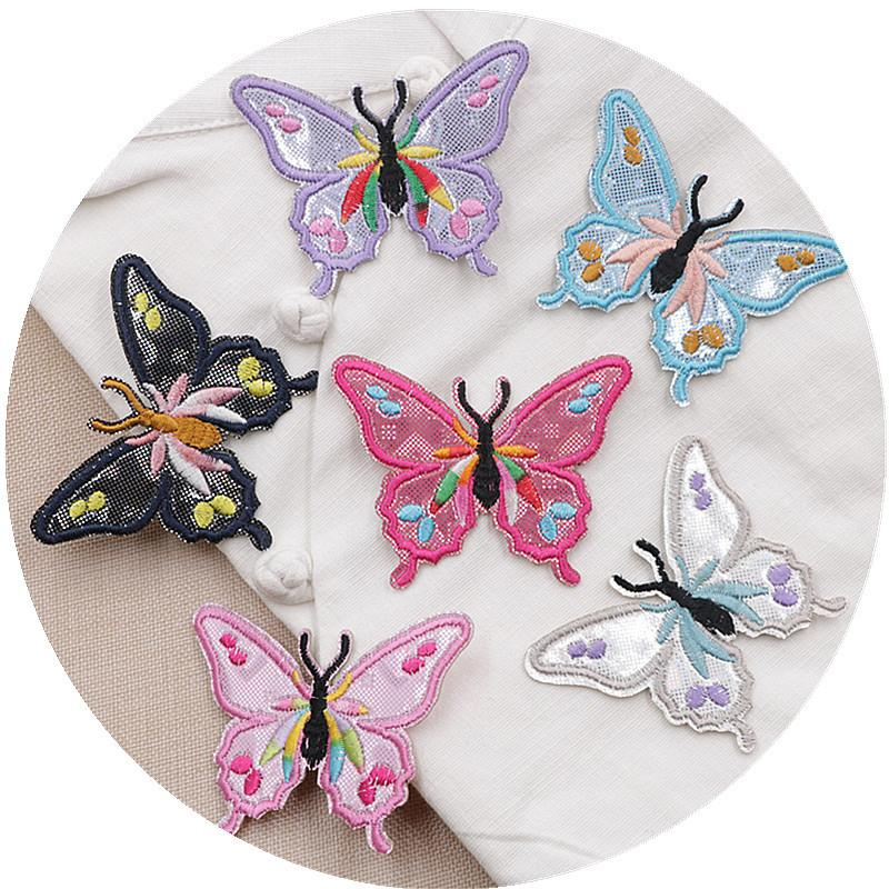 Patches DIY Butterfly Embroidered Sew Iron On Badge Patches ...