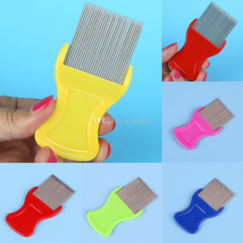 Dog Cat Pets Hair Flea Lice Nit Comb Pet Safe Flea Eggs Dirt Dust Remover Stainless Steel Grooming Brushes Pet Supplies WX9-1246