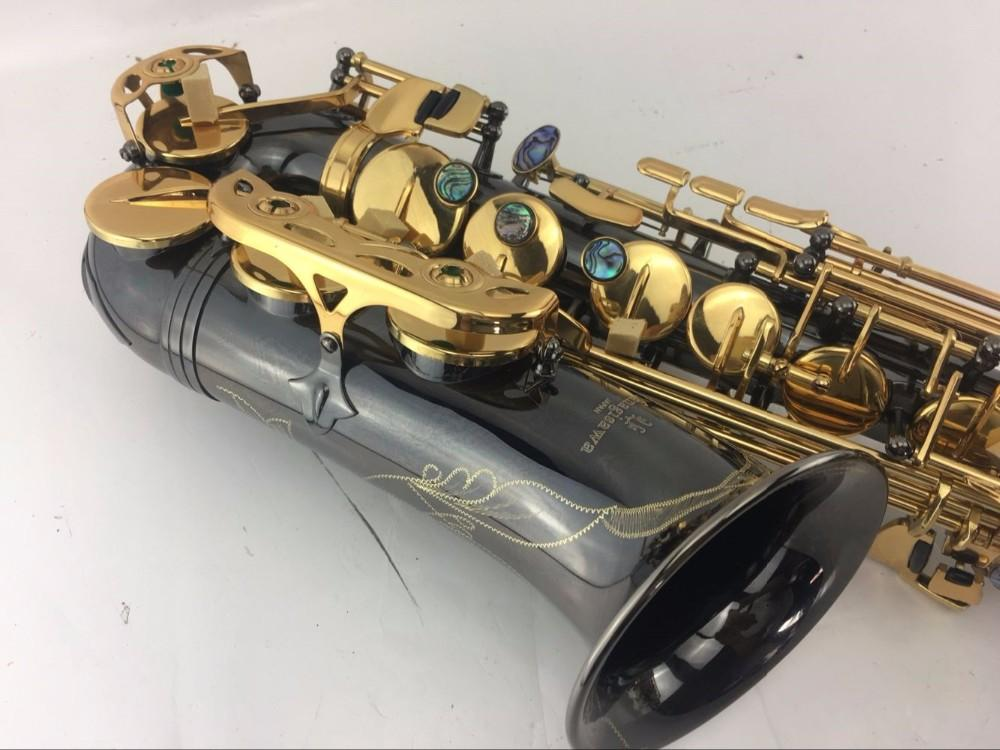 YANAGISAWA A-991 Alto Saxophone Brass Body Black Nickel Gold Surface Eb Tune Musical Instrument with Case Accessories Free Shipping