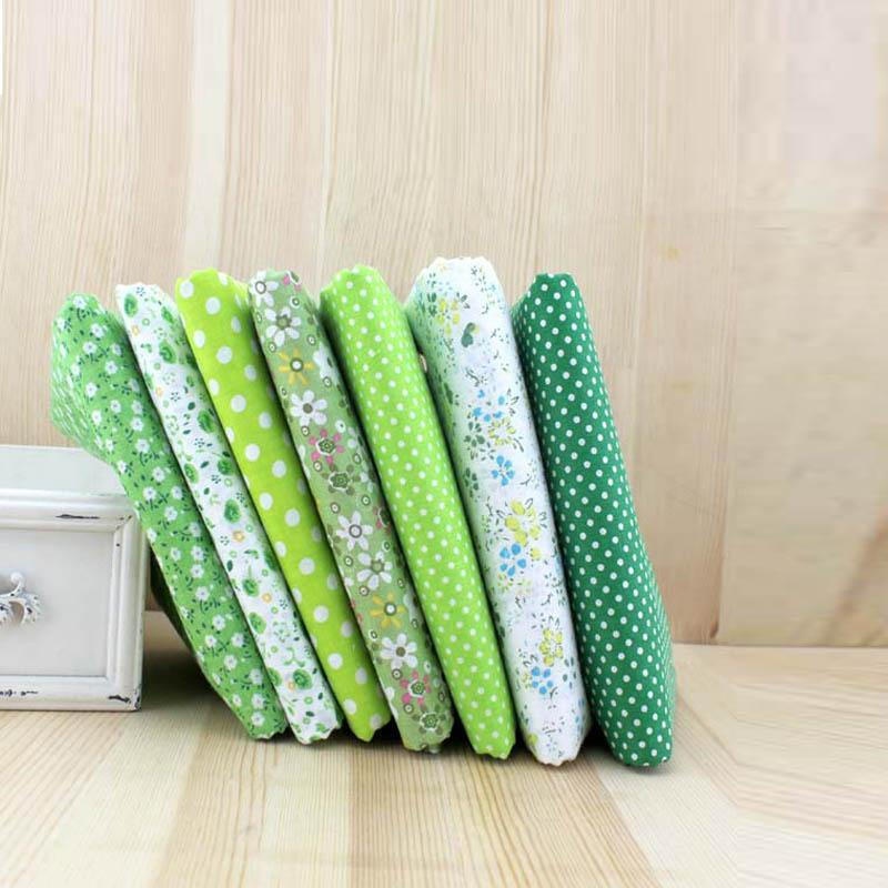 100% Cotton Fabric for Patchwork Green Color Fabric DIY Quilting Sewing Felt Cloth Crafts Materials Tissue Size 25x25cm