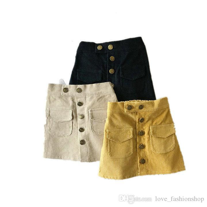 Retail kids luxury designer clothes girls package hip skirt fashion sweet corduroy skirts Skorts dress children boutique clothing 50% off