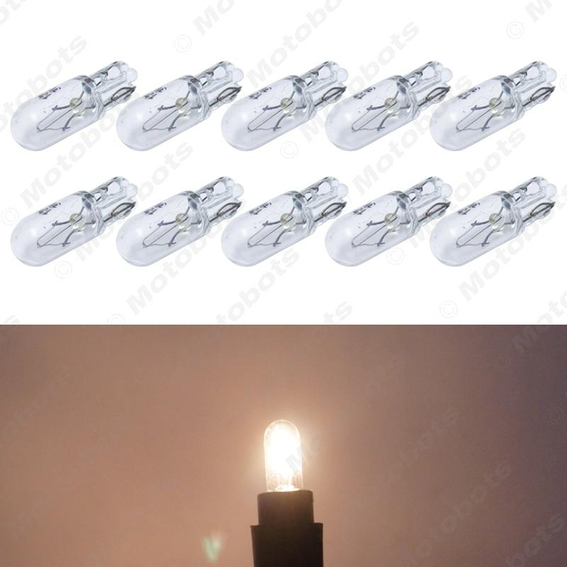 Warm White Car T6.5 12V 3W Wedge Halogen Bulb External Halogen Lamp Replacement Dashboard Bulb Light #1316