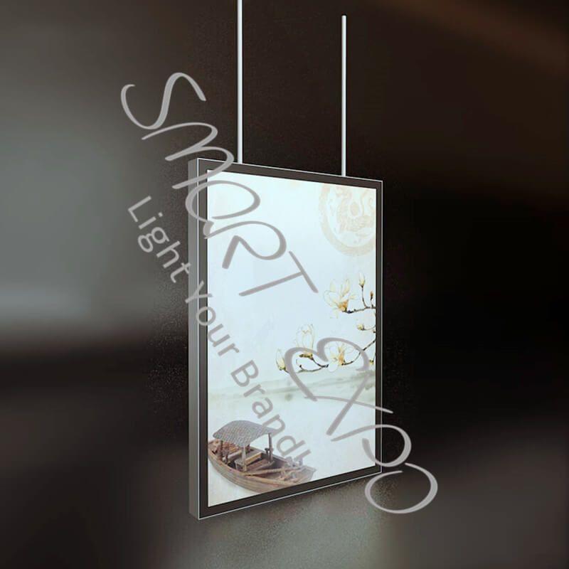 50 * 70cm Doppelseitig Dünne Werbe Display Magnetic Hanging Led Leuchtkasten für Plakat Display mit Fall Gesetzt Holzkiste Verpackung