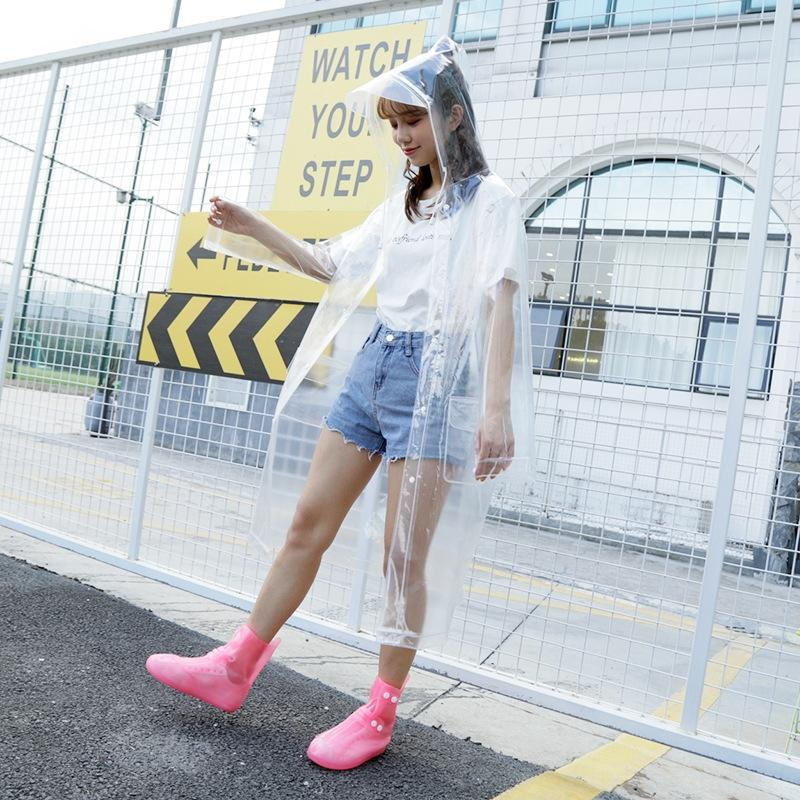 tpgw0 im Freien koreanischen Stil Mode transparenten Mantel Umhang EVA Poncho Hutkrempe Regenmantel Männer und Wandern Frauen Yanli Reise groß