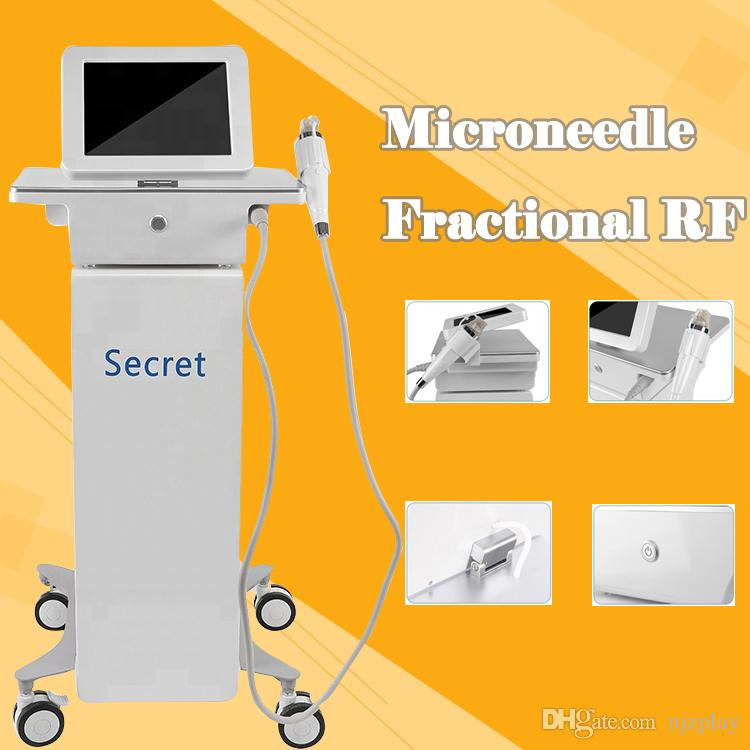portable gold fractional RF microneedle radio frequency micro needle skin tighten wrinkle removal therapy system beauty machine