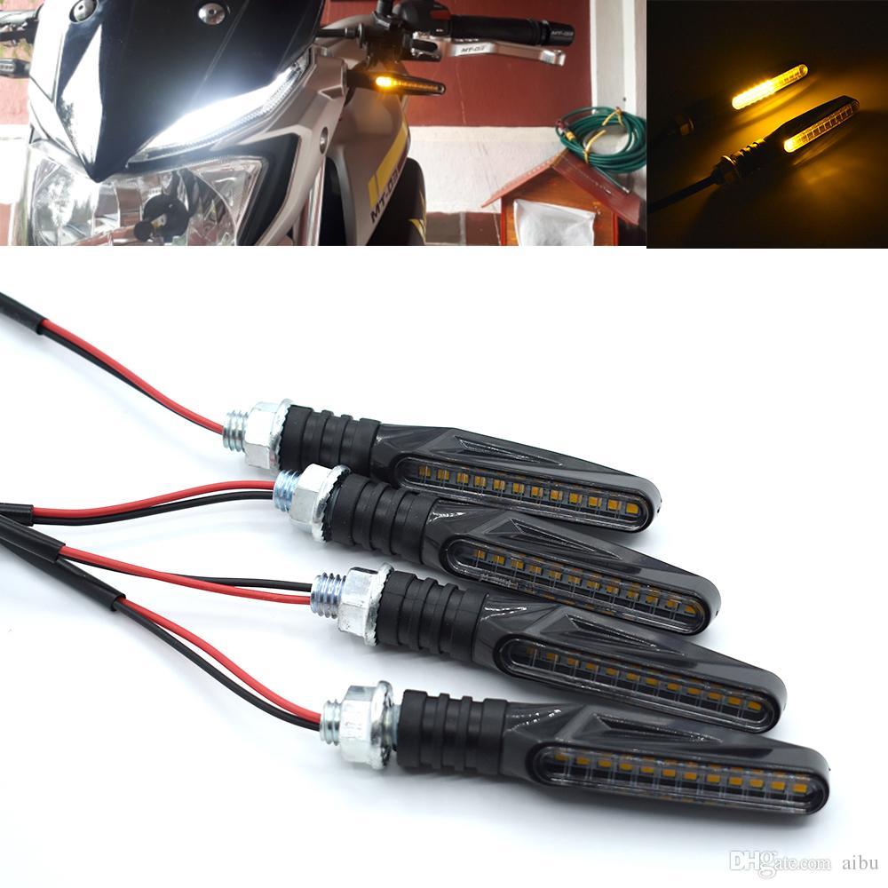 Для мотоциклов поворотники потока Светодиодные стоп-сигналы стрелки стоп-сигнала для Honda GoldWin Gl1800 Honda CR 125 Yamaha WR250F KTM отл 250