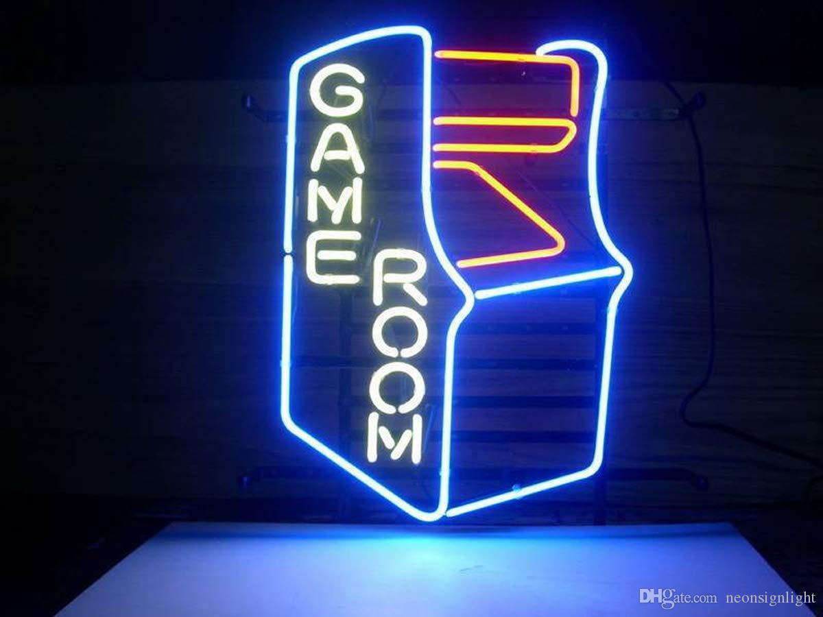 벽 장식 수제 로그인 홈 게임 룸 아케이드 맥주 바, 펍 오락실 등 윈도우 유리 파티를위한 네온 간판