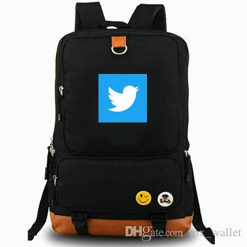 Zaino MicroBlog Twitter daypack Azienda di servizi best schoolbag per il tempo libero Zaino per il tempo libero Borsa da scuola sportiva Outdoor day pack