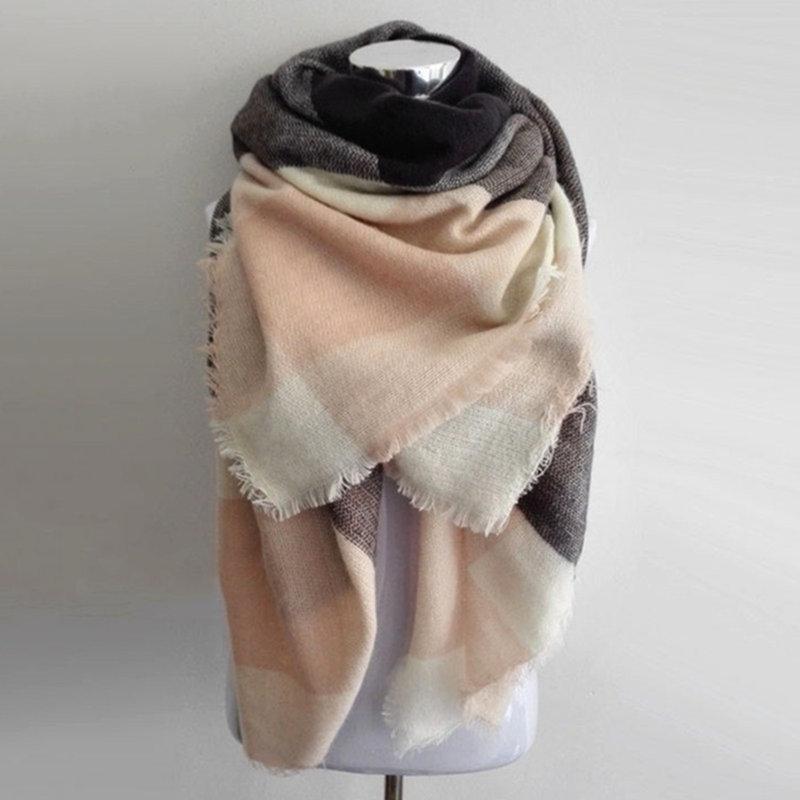 بطانية وشاح منقوشة الكشمير وشاح النساء وشاح الشتاء الدافئة كبيرة من النساء الاكريليك مربع الأوشحة والشالات bufandas
