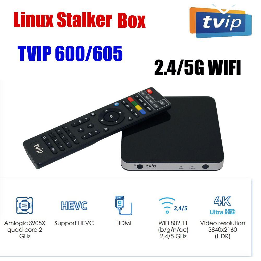 Originale sistema duale Linux Settop TVIP605 androide 7.1 Doppio supporto H.265 1920x1080 Quad Core 2.4G / 5G WIFI tvip605 Hot