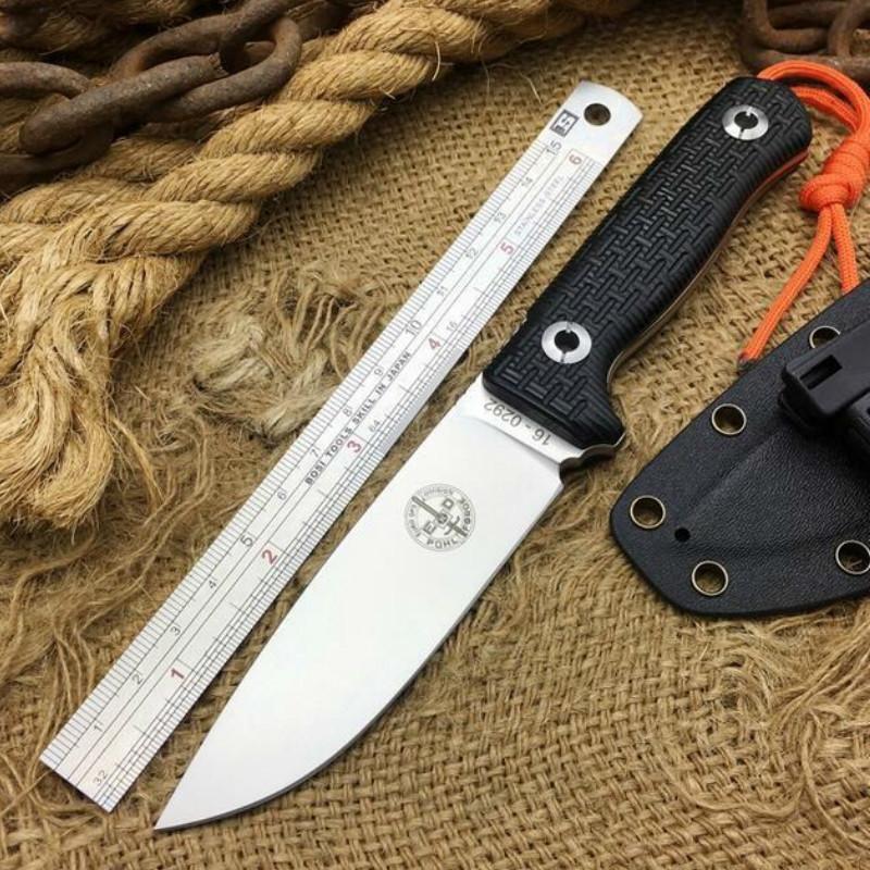 Cold Steel Pohl force à lame fixe Couteau tactique D2 acier extérieur Couteau tactique de survie Outils Camping Collection Couteaux de chasse