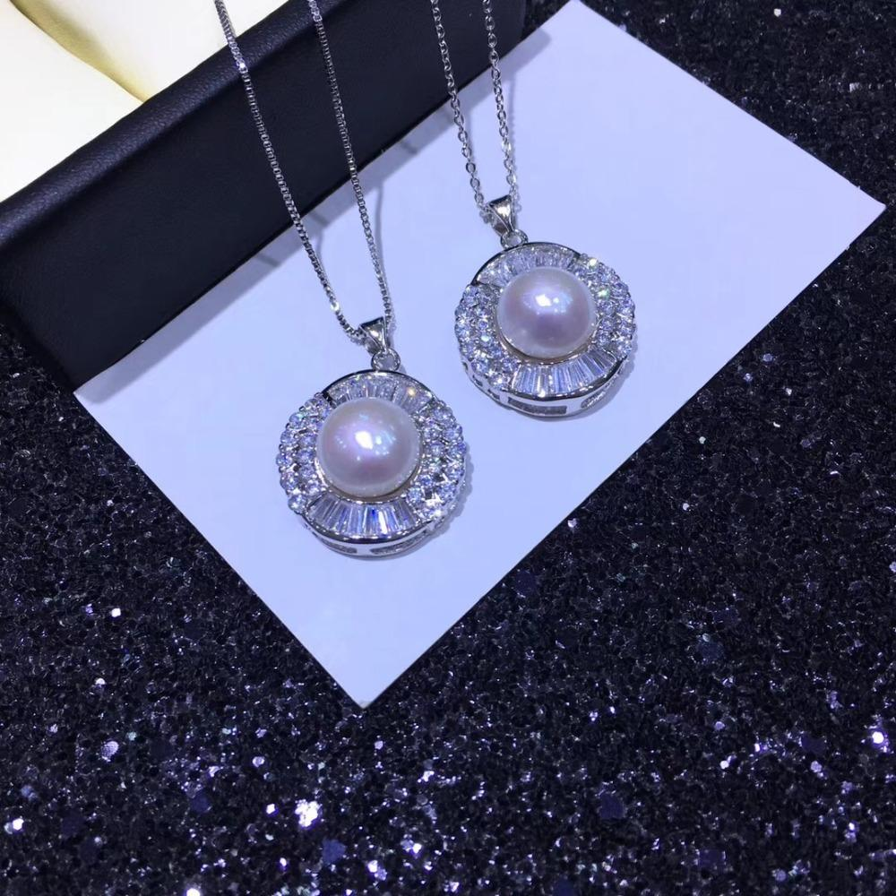 YIKALAISI 925 gioielli in argento per le donne 100% naturale perla d'acqua dolce 10-11mm ciondolo girocollo nuova moda all'ingrosso