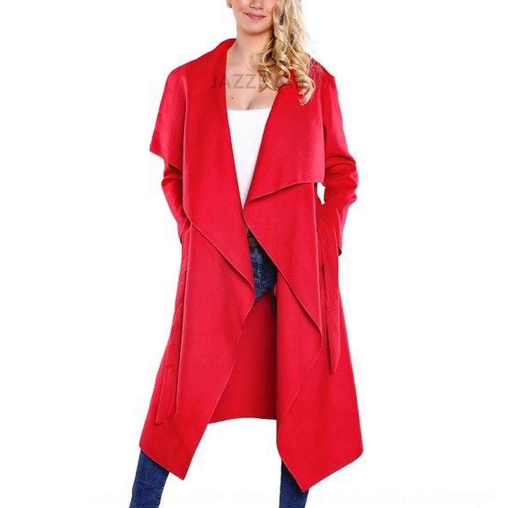Gran solapa chaqueta de punto en la capa amplia Gran solapa chaqueta de punto de lana de abrigo de lana de lana amplia de las mujeres de las mujeres