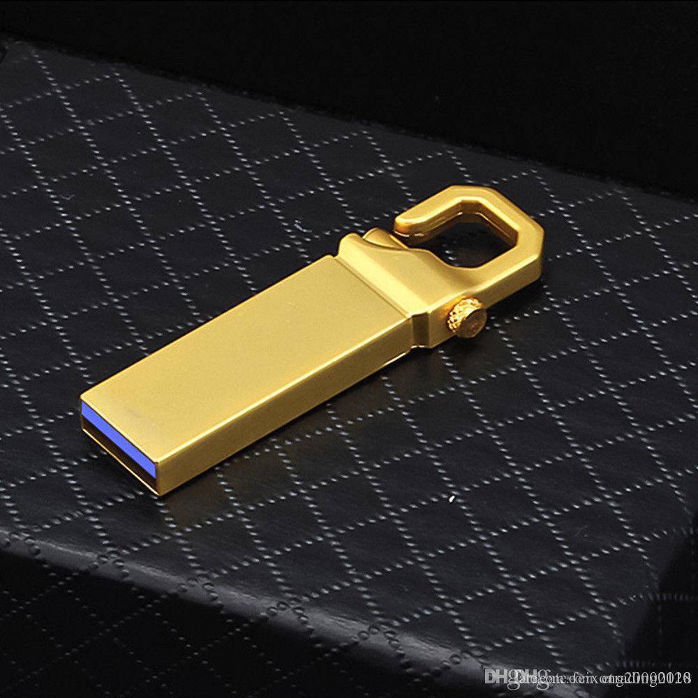 محركات الأزياء البسيطة USB 3.0 أقراص ذاكرة فلاش حملة القلم معدن U القرص على جهاز كمبيوتر محمول الولايات المتحدة