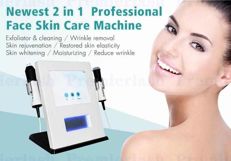 Eau de CO2 portable Oxygénation RF de nettoyage de bulle de peau de jet de peau d'oxygène de nettoyage d'oxygénation rf Équipement facial de salon de beauté avec le lifting de rf