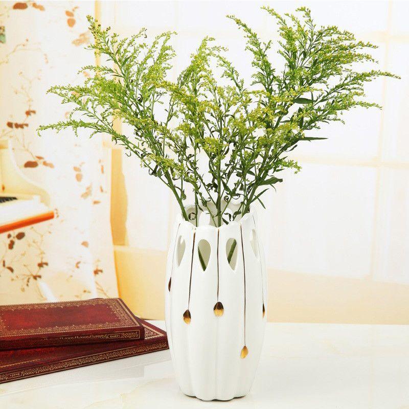 Creative Hot Sale Ceramic Vase Decoration Home Adornment Vases European Ceramic Vases Ornaments Porch Decoration Gift