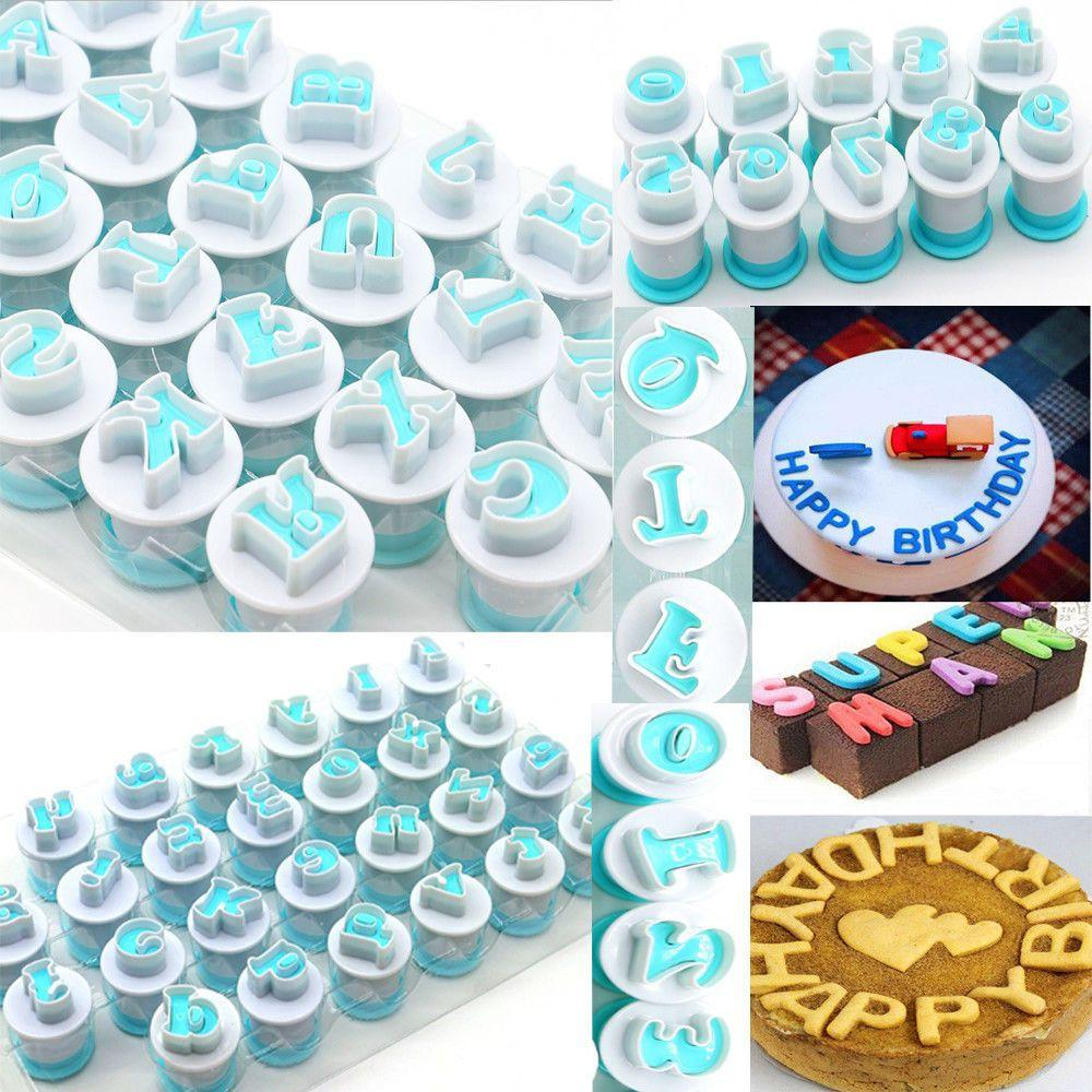 10/26PCS Alphabet Number Letter Cookie Biscuit Stamp Mold Cake Cutter Embosser Mould Tool Cake Letters Cutter
