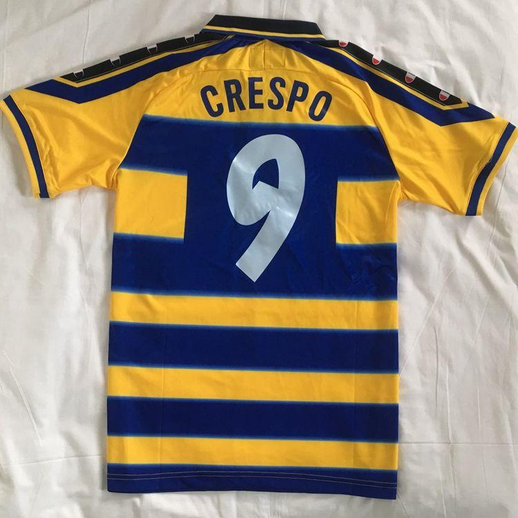 الرجعية خمر MAGLIA ماليي PARMA 1999 2000 CRESPO ORTEGA BUFFON تورام تايلاند الجودة لكرة القدم قميص كرة القدم جيرسي CAMISETA فوتبول camisa
