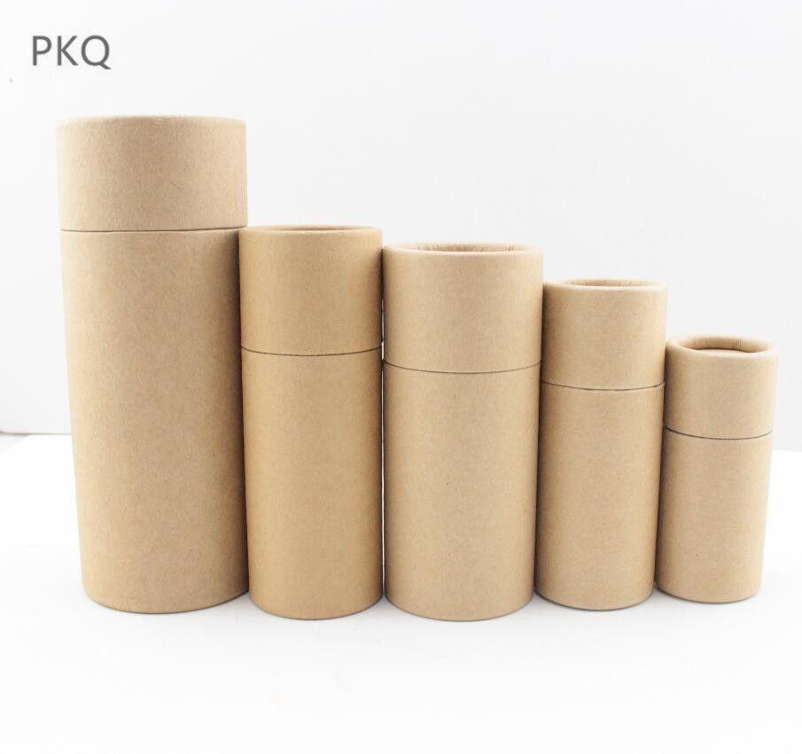 10/20/30/50/100 ml Yağ Şişeleri ambalaj kutusu damlalık şişe için Kraft kağıt ambalaj karton tüp Yuvarlak Ruj Parfüm kutusu
