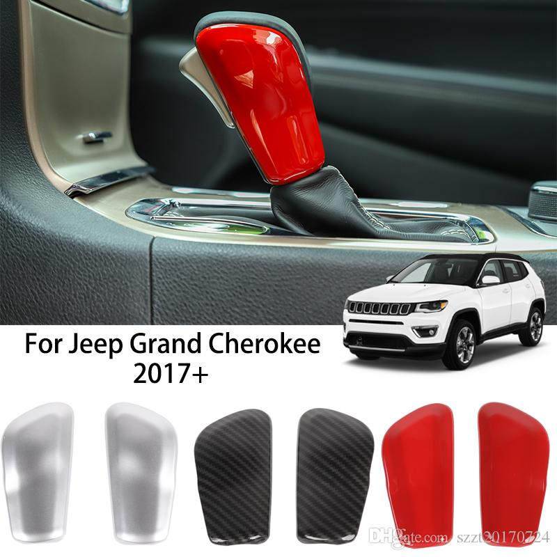 Car Gear Shift Knob Shifter Trim Stickers ABS Decoration Cover For Jeep Grand Cherokee 2017 UP Car Interior Accessories