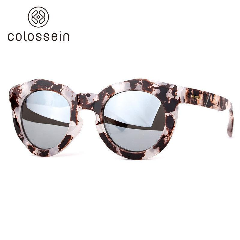 Colossein Sunglasses Women Fashion Brand Designers Sun Glasses Round Frame Steampunk Uv400 Modis Eyewear Colorful Outdoor Gafas