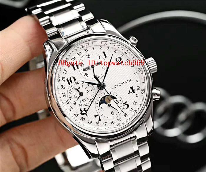 Reloj para hombre Top Master colección de relojes de pulsera suizo 7751 del calendario anual del cronógrafo automático del cristal de zafiro CNC acero inoxidable 316L