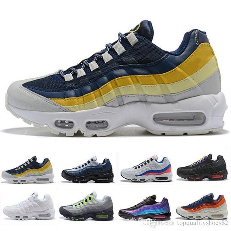 Moda para hombre de los zapatos corrientes del amortiguador de goma para mujer Deportes Senderismo diseñador de la capacitación las zapatillas de deporte de onda de colores Tamaño 36-45