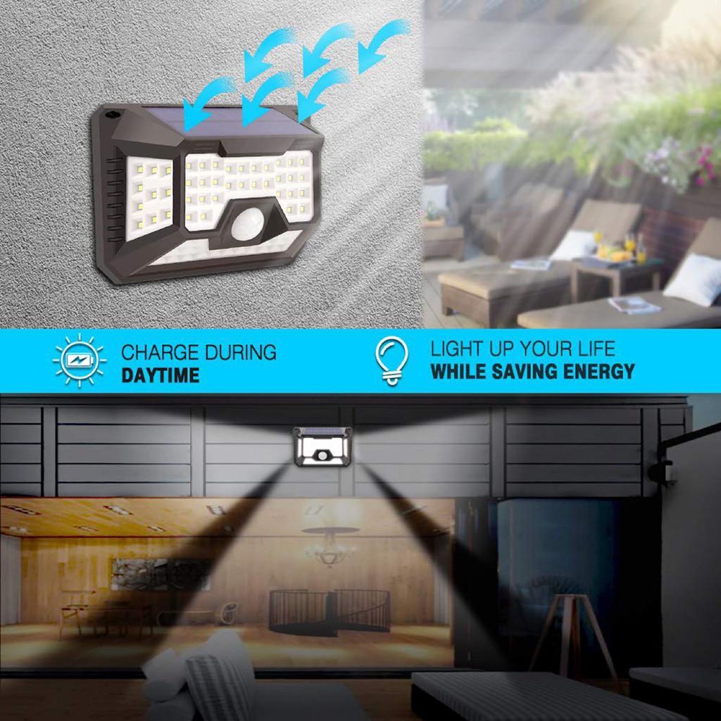Luz solar de la pared impermeable inducción del cuerpo humano la luz del jardín del paisaje 66 LED de la Casa Jardín de ahorro de energía new108 calidad de la iluminación