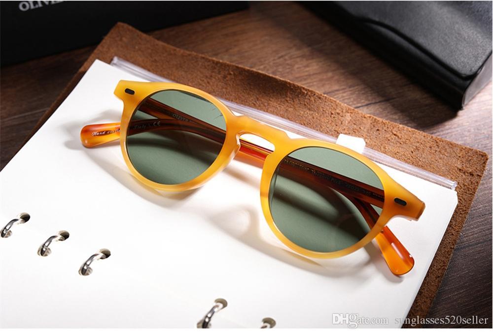 di alta qualità degli uomini le donne gli occhiali da sole di marca famosa ov5186 Gregory Peck polarizzato occhiali da sole rotondi occhiali occhiali da vista Oculos de gafas